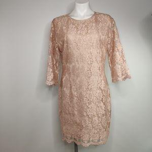 Missguided Long Sleeve Dress w/Sheer Design